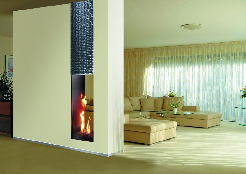 Roma 50 Tall Tunnel Balanced Flue Gas Fire Image