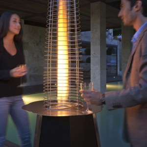 Solflame Glass Tube Patio Heater