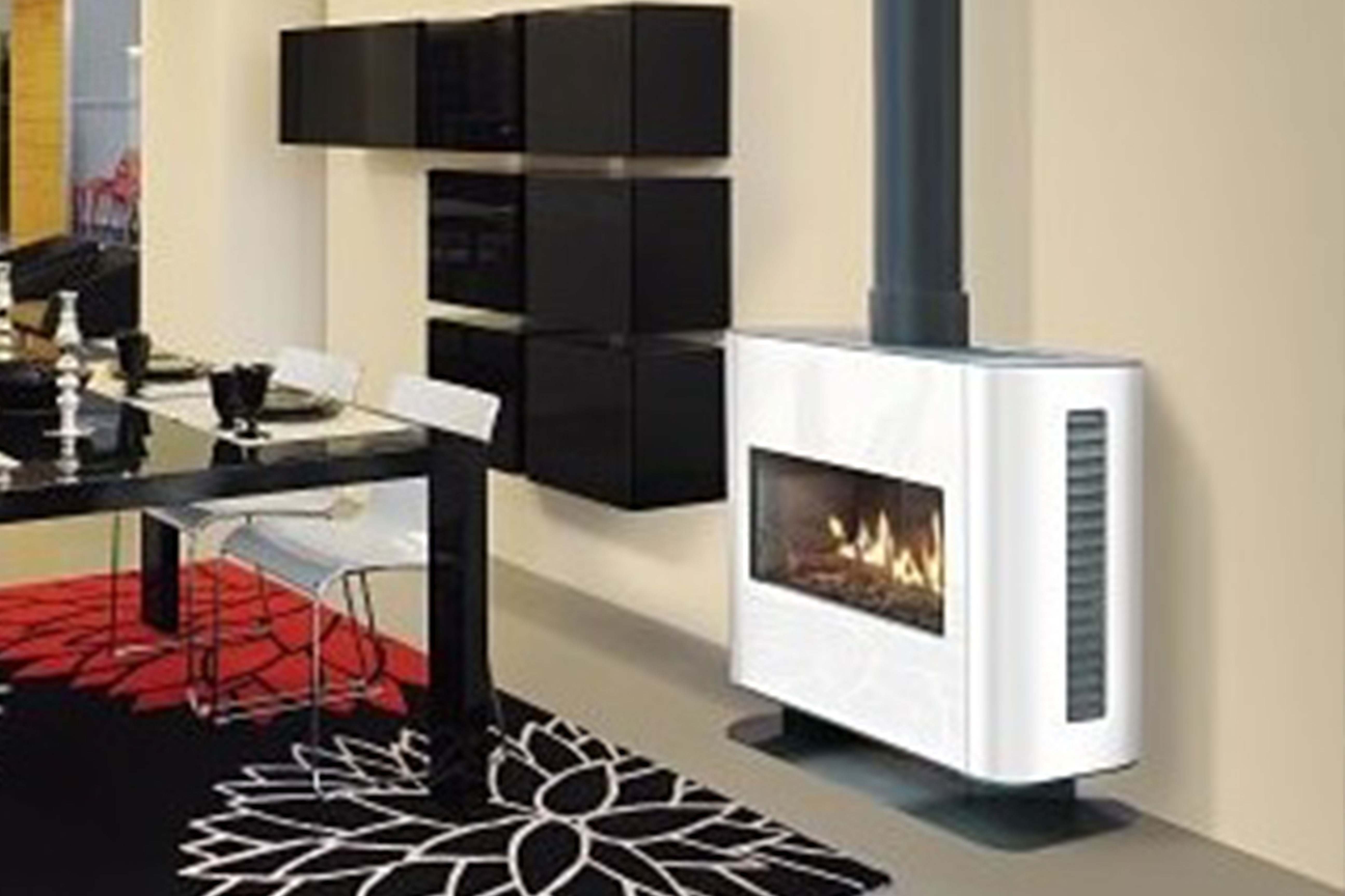 Stufa 90 Balanced Flue Gas Stove Front Facing