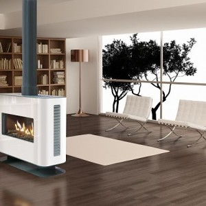 Stufa 90 Tunnel Double Sided Balanced Flue Gas Stove