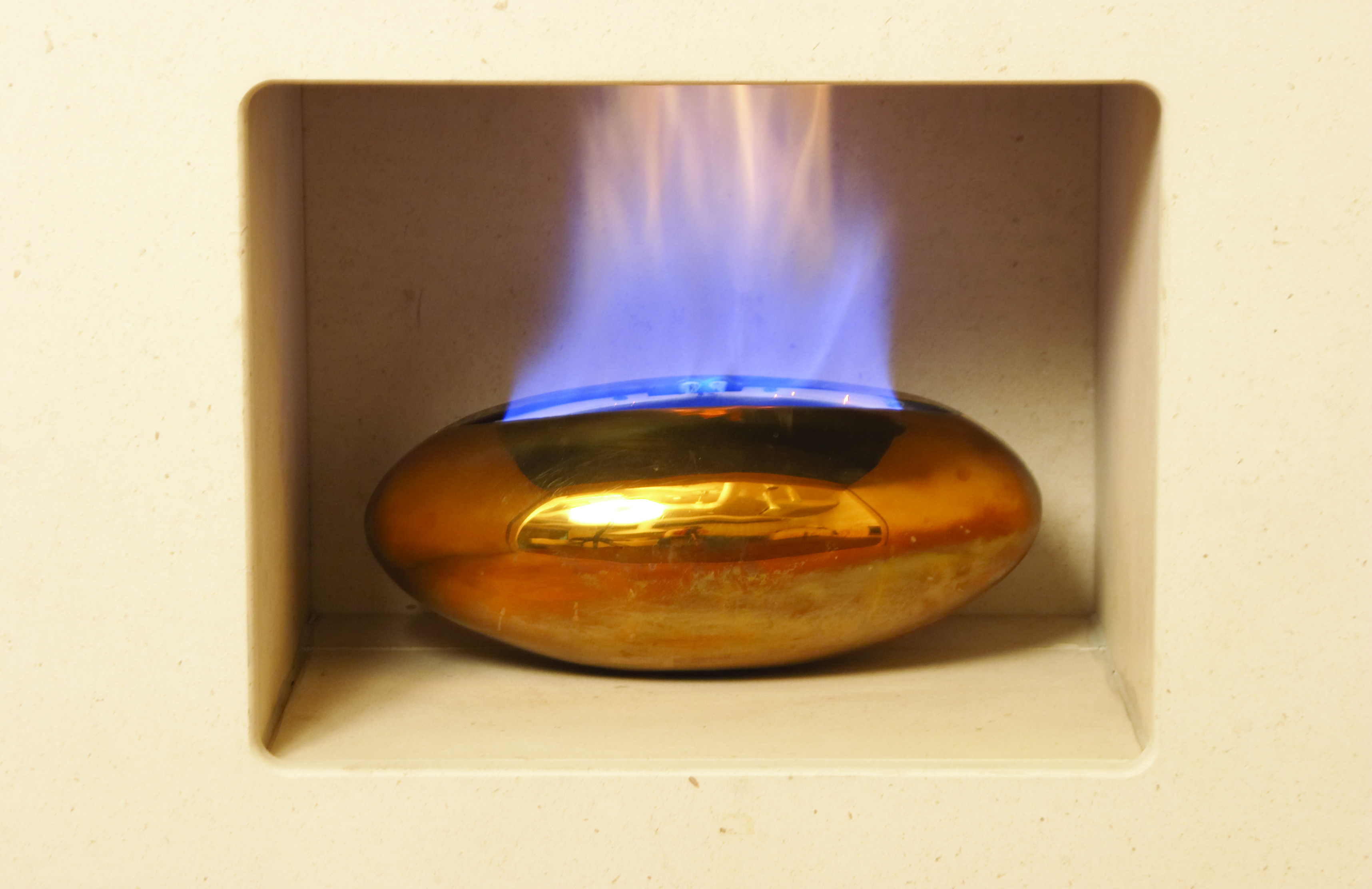Vessel Hole In The Wall Gas Fire Bronze