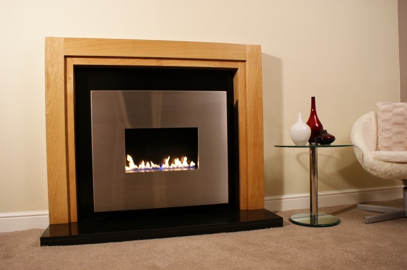 corona suite traditional flueless gas fire. Black Bedroom Furniture Sets. Home Design Ideas