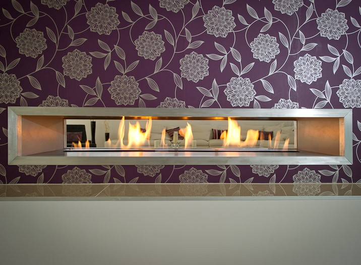 Double Sided Fire Wave Gas Fire