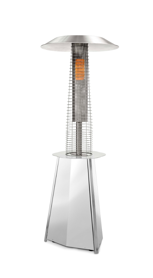 Soliel Silver Gas Patio Heater For Outdoors