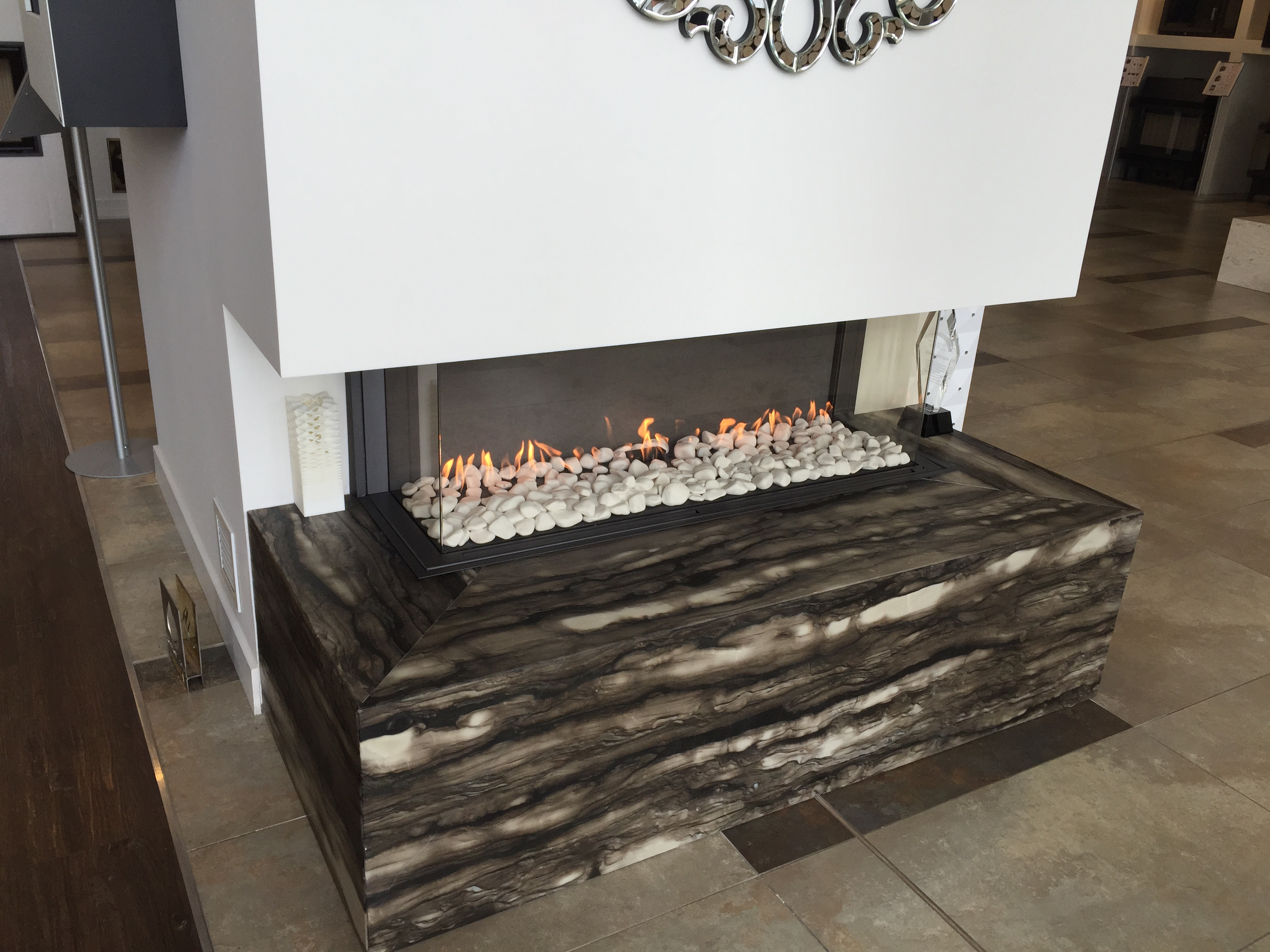 fires ebossnow series latest the truly frameless ds escea range studio gas double sided s eboss stoke fireplace by