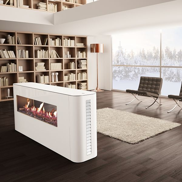 Milano 80 Freestanding Double Sided Fire Image
