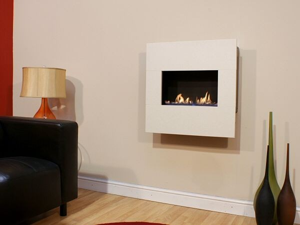 Liten Flueless Gas Fire With White Fascia