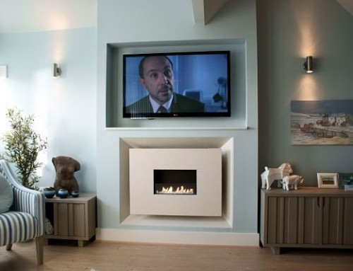 Recessed Flueless With TV Above – Pebble Beach, Lee-On-The-Solent
