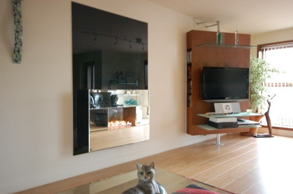 Mirror Fascia Wall Mounted Flueless Gas Fire
