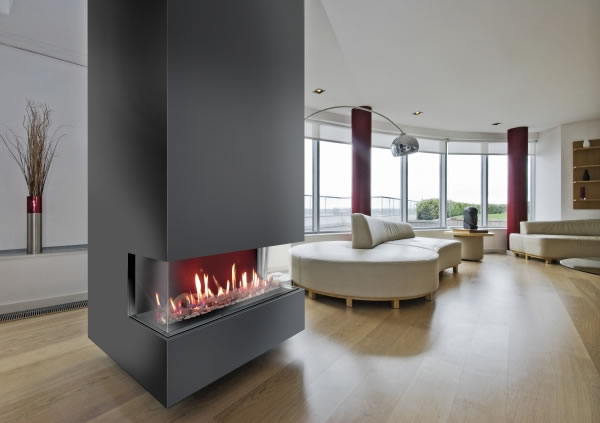 Venezia 130 3 Sided Gas Fire Image