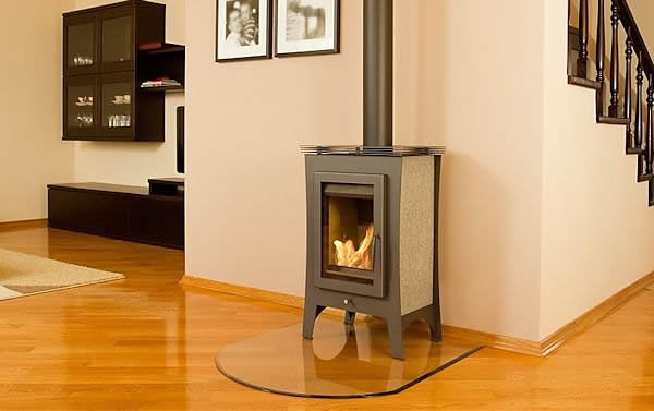 Flueless wood burner