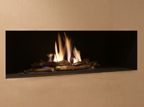Madini Hole In The Wall Gas Fire With Log Decor