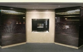 CVO Airport Viewing Location of Recessed Flueless Fire