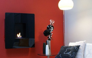 CVO Azar Black Glass Flueless Fire Gallery