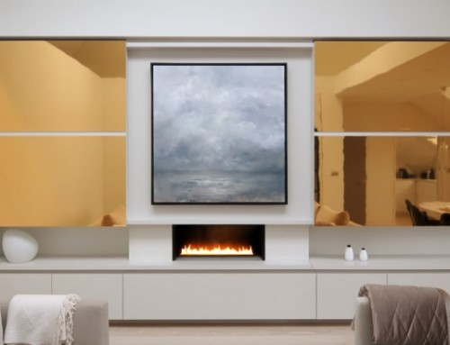 Bespoke Fireplace, Fire Ribbon, Chelsea, London, CVO Fire UK