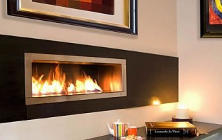 CVO Customer Install Image Of Ribbon Flame Fire