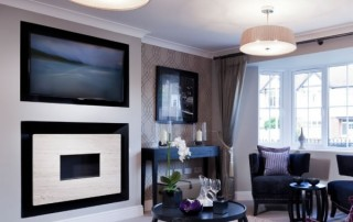 CVO Flueless Fire With TV Above Gallery
