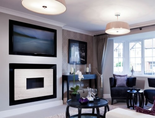 Flueless Gas Fire with TV Above, Installation Images