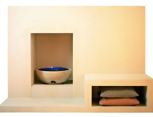 Geometric Limestone Fireplace – Image Gallery