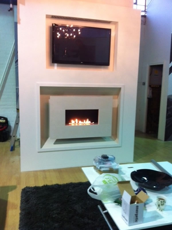 Geordie Shore Fireplace Installation with TV Above