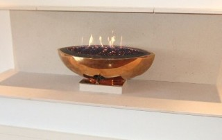 CVO Large Bronze Firebowl Installation