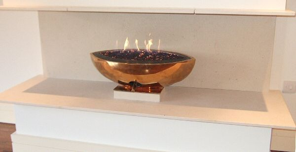 Read more about the article Bronze Gas Fire bowl by CVO – Bespoke Installation – FOXMEAD – Knutsford, Cheshire