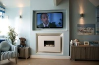 CVO Pebble Beach Install Of Gas Fire With TV Above
