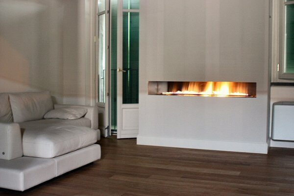 FIRE WAVE Frameless Hole in the Wall Fireplace – Image Gallery