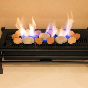Madini Basket Gas Burner With Pebble Decor