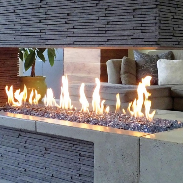 Outdoor Fire Grate 1307mm Gas Fire Burner Tray