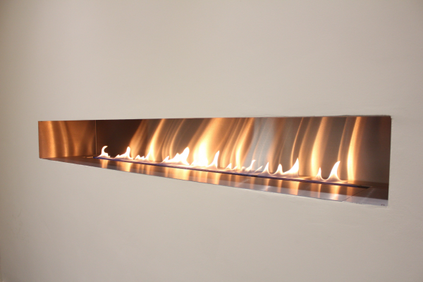 Fire Wave Ribbon Gas Fire