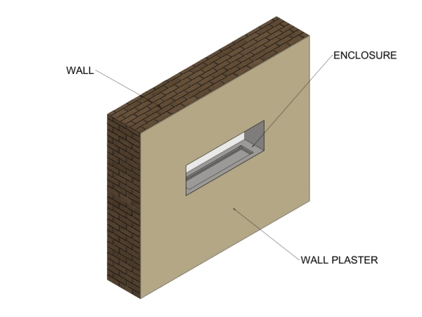 CVO600 Double Sided Fireplace Opening